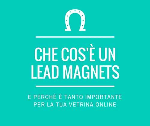 Che cos'è un lead magnets e perchè è tanto importante per la tua vetrina online