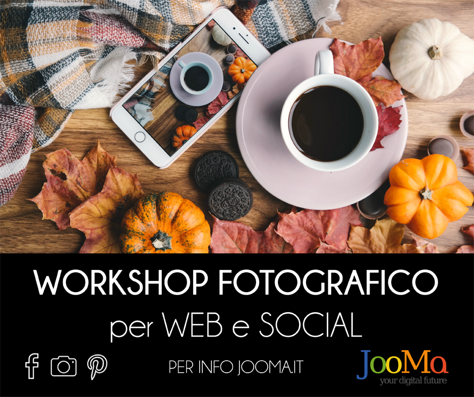 Workshop fotografico per web e social